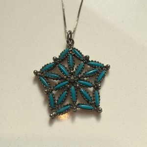 Jewelry - Turquoise star pendant necklace